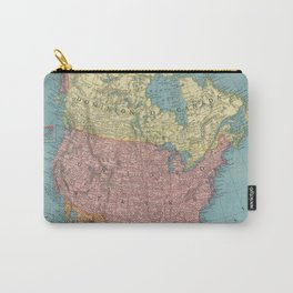 Vintage Map of North America (1903) Carry-All Pouch