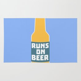 Runs on Beer Bottle Bcy3l Rug