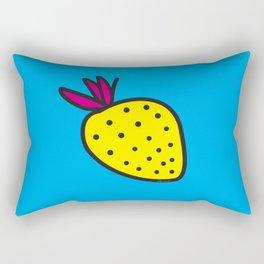 Strawberrious -Yellow/CYAN Rectangular Pillow