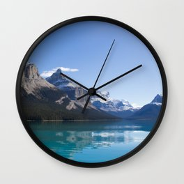 Mountains of Maligne Lake 7 Wall Clock