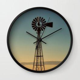 Sunset Windmill Wall Clock