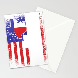 I love Texas Flag Rodeo Cowboy Texans Stationery Cards