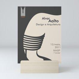 Exhibition poster-Alvar Aalto-Design e Arquitetura. Mini Art Print