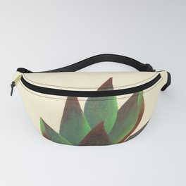 Red and Green Aloe Vera Plant Fanny Pack