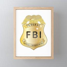 FBI Badge Framed Mini Art Print