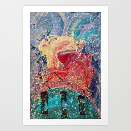 It formed itself after the gods defeated the Titans  Art Print