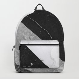 Contemporary Marble Stone Rays Backpack