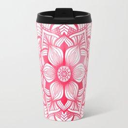Mandala in red, watercolor Travel Mug