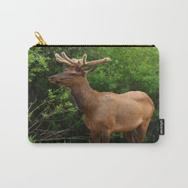 Wapiti At The Roadsite Carry-All Pouch
