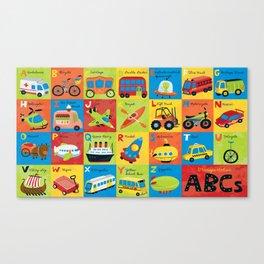 Transportation ABCs Canvas Print