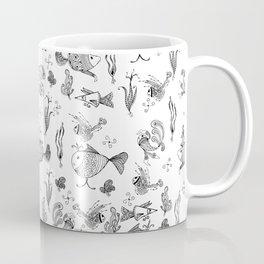 Seamless hand draw cartoon fairy fishes Coffee Mug