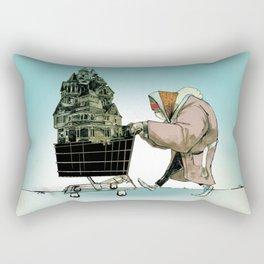 """Glue Network Print Series """"Homelessness"""" Rectangular Pillow"""