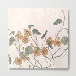Winding flowers Metal Print