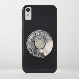 Old telephone dial iPhone Case