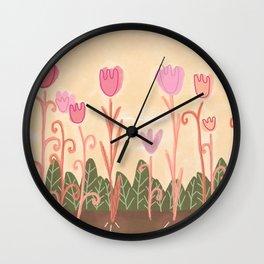 monday blooms Wall Clock