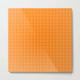 Orange Smooth ripples Metal Print