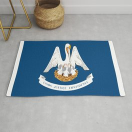 Flag of Louisiana -Louisianian,south, jazz,blues,french, new orleans, baton rouge,usa,america,us Rug