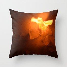 Ice & Fire Throw Pillow
