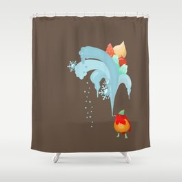 Christmas and New year 2017 Shower Curtain