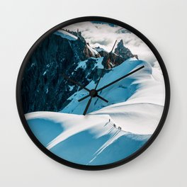 Snow Top Mountains (Color) Wall Clock