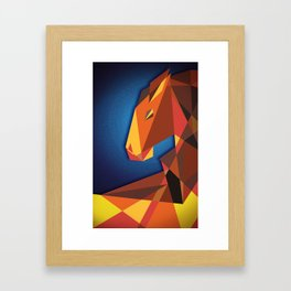 Abstract horse- Caballo abstracto Framed Art Print