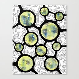 Ten of Microbes Canvas Print