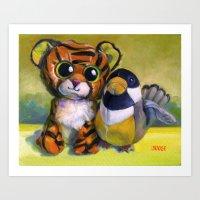 Buddies - Most Unusual of Friends! Art Print