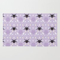 baphomet Area & Throw Rugs featuring All Hail the Cuteness! by Sugar Sparkle