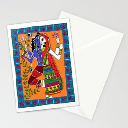 Madhubani Painting / Painting of God Shiv and Mata Parvati/ Madhubani Hub /Original painting of Amrita Gupta Stationery Cards