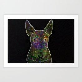 Cosmic bullterrier Art Print