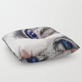 Blue Eyes Floor Pillow