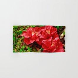Fallen camellias Hand & Bath Towel