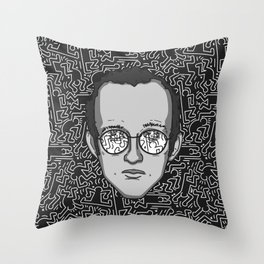 Keith Haring - Tribute Throw Pillow
