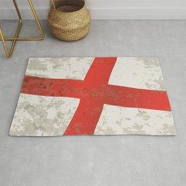 Flag of England and Saint George Grunge Rug