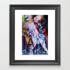 i don't do drugs Dali Framed Art Print
