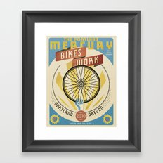 Portland Mercury Bike Issue cover  Framed Art Print
