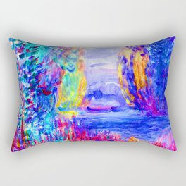 Renoir River Landscape Rectangular Pillow