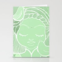 namaste Stationery Cards featuring Namaste by Camila Fernandez