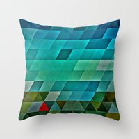 road Throw Pillows featuring road by Spires