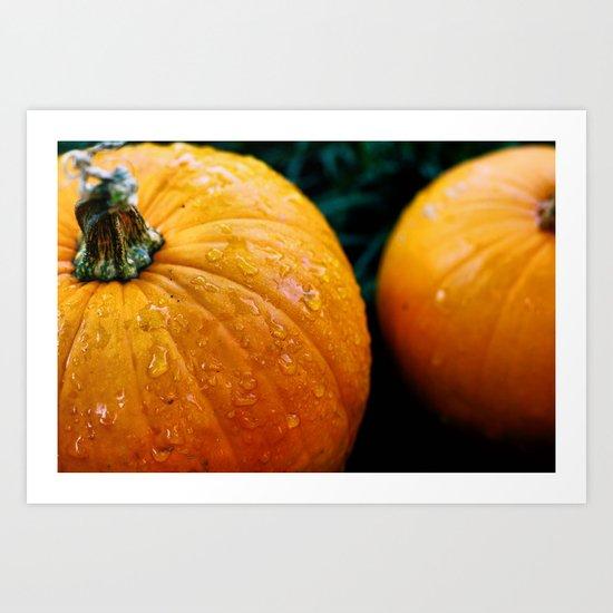 Pumpkins and Tears Art Print