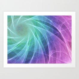 Whirlpool Diamond Computer Art Art Print