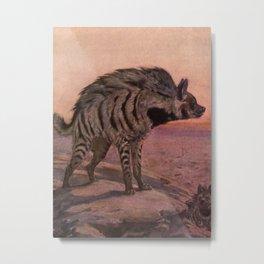Vintage Hyena Painting (1909) Metal Print