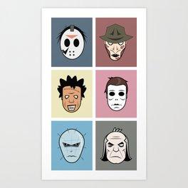 Monster Heads Art Print