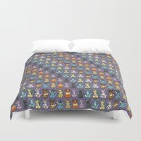 eevee Duvet Covers featuring Eeveelutions by Caleb Cowan