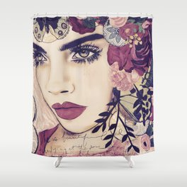 NATURE ITESLF BOHEMIAN WOMAN PAINTING Shower Curtain