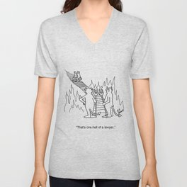 """""""One Hell Of A Lawyer"""" Unisex V-Neck"""