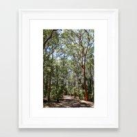 hiking Framed Art Prints featuring Hiking by Georgia