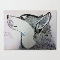 husky Canvas Prints featuring Husky by MatthewTew