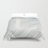 striped Duvet Covers featuring Striped L by DLUTED DESIGN