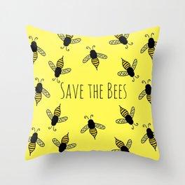 Buzzin' Throw Pillow